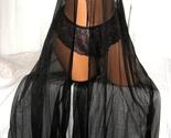 2 Piece Black Mauve Long Nightgown with Panty Chiffon Skirt 2X
