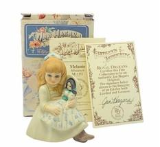 Jan Hagara figurine vtg limited edition 1985 Melanie miniature royal orl... - $24.70