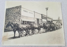 Vintage Photo Farmers Exchange Horse and Wagon - $2.48