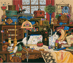 """Dimensions Gold Collection Counted Cross Stitch Kit 14""""X12""""-Maggie The Messmaker - $39.89"""