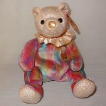 Teddy Bear October Birthday 2001 Ty Beanie Babies Plush Stuffed Animal 8... - $9.99