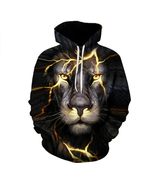 Men/Women 3d Sweatshirts Print Paisley Lightning Lion Hoodies Autumn Win... - $23.00