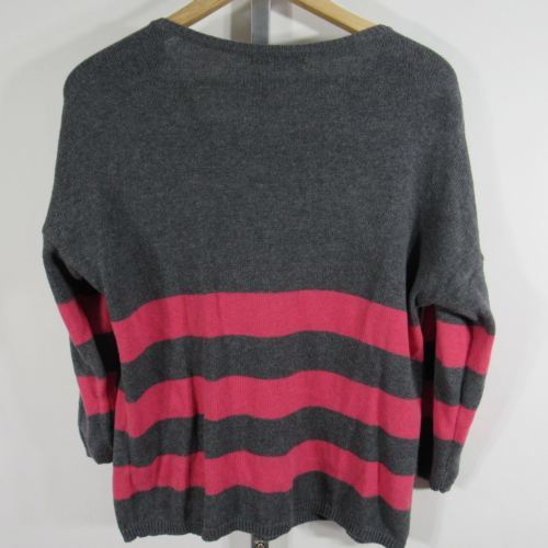 Gap Jersey Mujer M Gris Rosa a Rayas con Cashmere G84