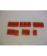 15 Red Plastic Letters French Spellmaster Pieces For Crafts - $4.95