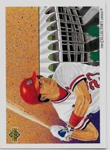 1992 Upper Deck Baseball, #40 Todd Zeile, St Louis Cardinals, Team Checklist - $0.99