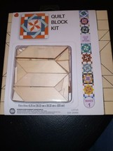 Wooden Arts And Crafts Quilt Block Kit Fun For Any Kids Lotus 3 2-2 6990... - $39.19