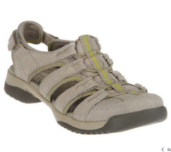 Clarks Leather Adj. Fisherman Sport Sandals - Vapor Mist - $44.54