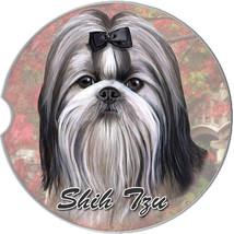 Shih Tzu Black & White Auto Coasters - $9.95