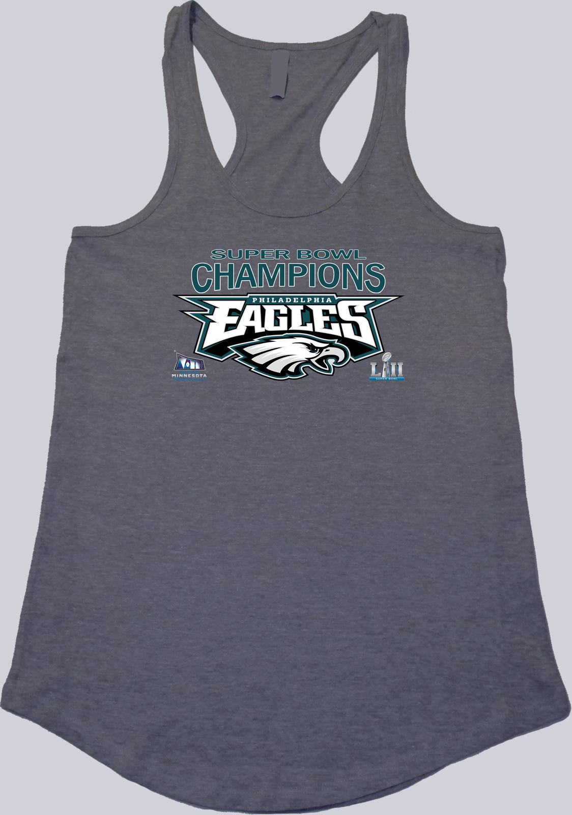 2018 Super Bowl LII Champions Philadelphia Eagles Women's Scallop Bottom Tanks