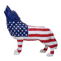 The Wolf Spirit Collection American Patriotic Spirit Wolf Collectible Figurine H - $21.99