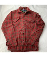 Vintage Pendleton Shadow Plaid Flannel Button Shirt Virgin Wool Women's ... - $34.99