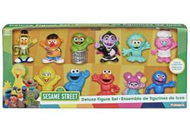 New 11-Piece Sesame Street Deluxe Figure Set Playskool Gonger Rosita Abby Elmo - $45.53