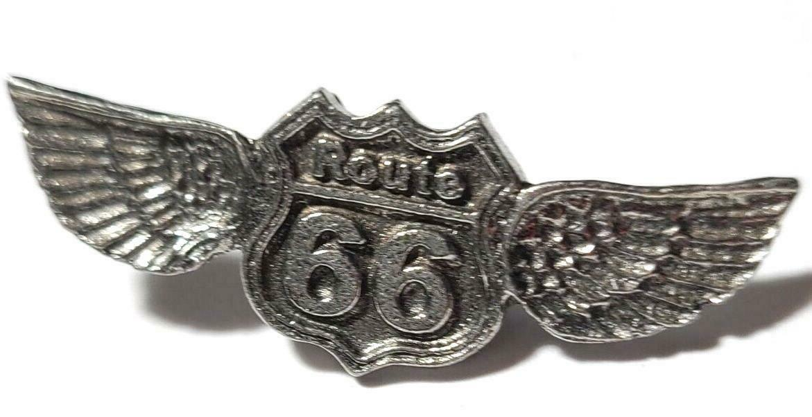 Route 66  Fine Pewter Pin  - Approx. 1 1/2 inches Long  (T249)