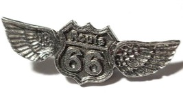 Route 66  Fine Pewter Pin  - Approx. 1 1/2 inches Long  (T249) image 1