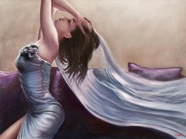Cristelle by John Silver 18x24 Fine Art Canvas Giclee Stretched Open Edition - $187.11