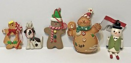 Lot of 5 Miscellaneous Christmas Tree Ornaments Various Sizes - $13.59