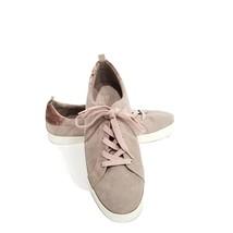 GAP Women's Size 11 Sneakers Lace-up Dusty Pink Velvet Detail Faux Suede - $21.17