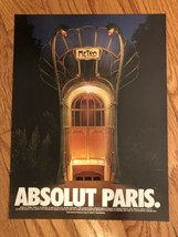Absolut Paris City Original Magazine Ad - $3.99