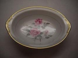 VINTAGE Noritake VEGETABLE Serving DISH Oval SHAPE Gold LINDROSE PATTERN - $34.27