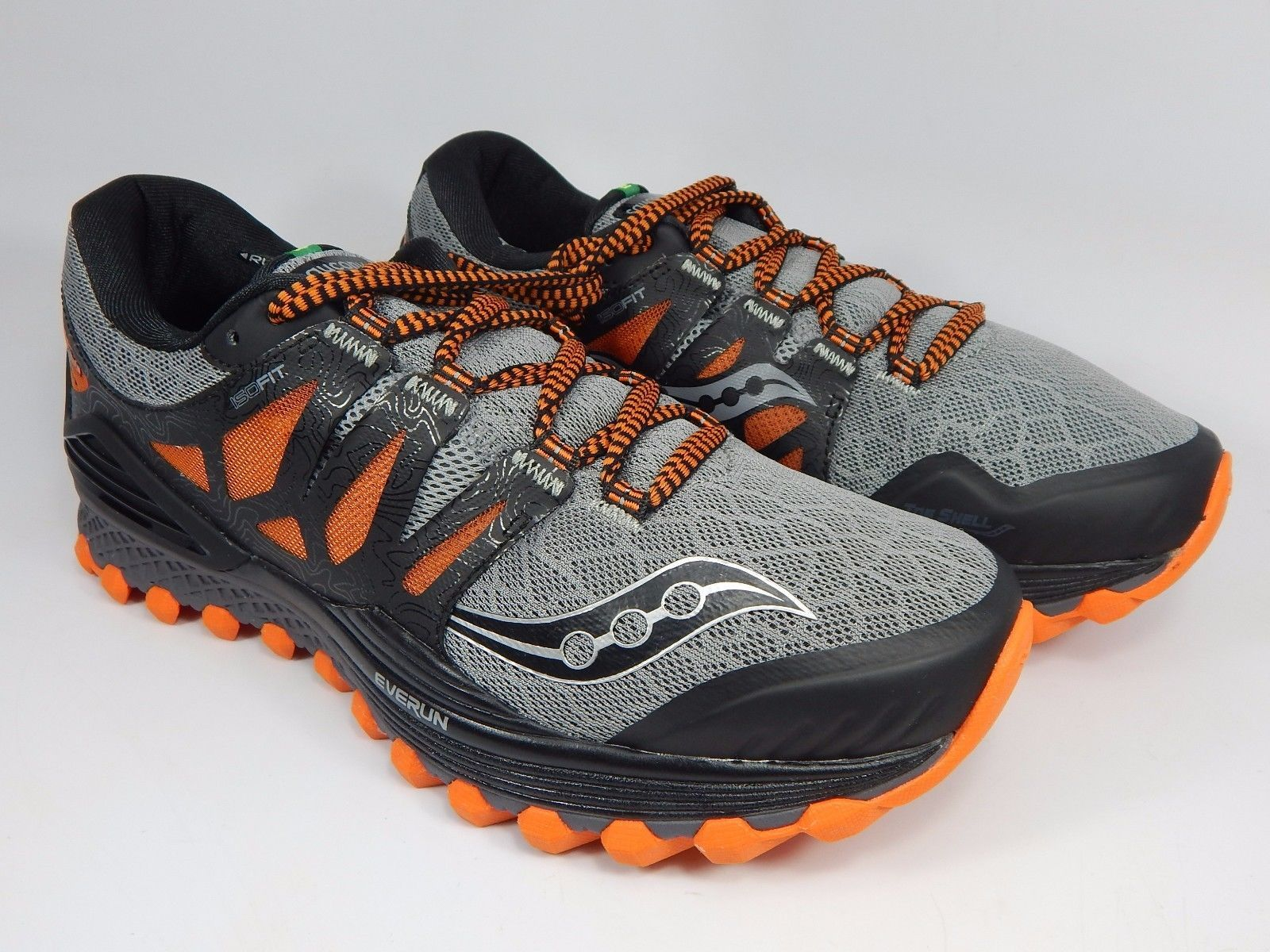 Saucony Xodus ISO Men's Trail Running Shoes Sz US 9 M (D) EU 42.5 Gray S20325-1