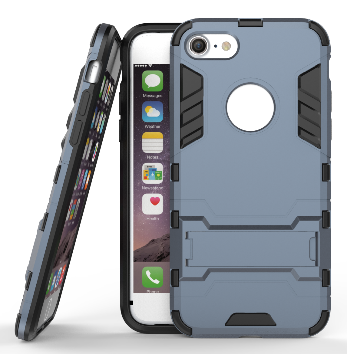 Lim armor shockproof kickstand protective case for iphone 7 4 7inch navy blue p20160907134449958