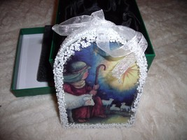 NEW SHEPHERD SHEEP LIGHTED Christmas ORNAMENT w/ BOX Valerie Parr Hill T... - $12.55