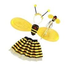 4Pc Bumble Bee Honey Girls Kids Fairy Halloween Fancy Dress Up Party Cos... - $13.31