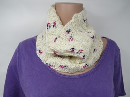 Handcrafted Cowl/Infinity Wrap Textured 100% Merino Wool Female Adult - $44.18
