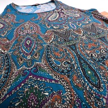 NWT NEW ELLEN TRACY Womens Sleevless Blouse Paisley Multi-Colored Large L - $32.09