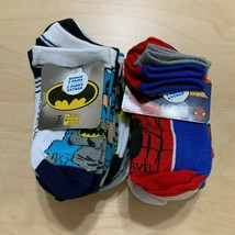 14 Pairs DC Comics/Marvel Batman/Spiderman Socks, Character Socks, Sz M ... - $14.73