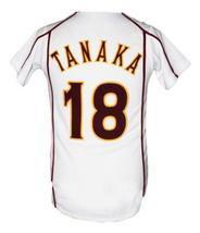 Masahiro Tanaka Rakuten Eagles Baseball Jersey Button Down White Any Size image 2