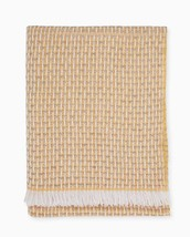Sferra Vitta Honey Throw Blanket Cashmere Blend Basket Weave Fringed Ita... - ₹19,912.08 INR