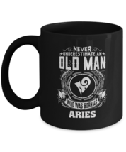 Personalized Mug For Men - Never Underestimate An Old Man Who Was Born A... - $18.95