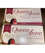 Queen Anne ~ Dark Chocolate Coconut Cherries Cordials 20-Count ~ 11/2021 - $16.82