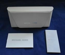 Michael Kors White Sunglass Eyeglass Hard Case Large w/Paperwork NEW - $14.95