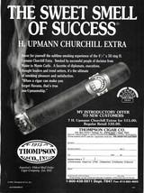 1995 Thompson Cigar H. Upmann Churchill Extra Magazine Print Ad - $6.00