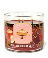 Bath & Body Works Sugared Cherry Crisp 3 Wick Scented Candle 14.5 oz - $26.17