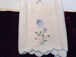 Antique Set of Four Embroidered Floral Hand Towels image 4