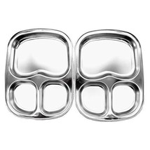 Stainless Steel Divided Plates by KS&E, Kids Toddlers Babies Tray, BPA F... - £24.43 GBP