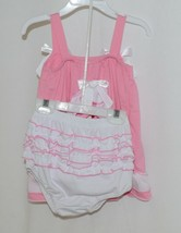 I Love Baby Pink White Sun Dress Ruffle Bloomers Size 100cm 3 to 4 Year Old image 2