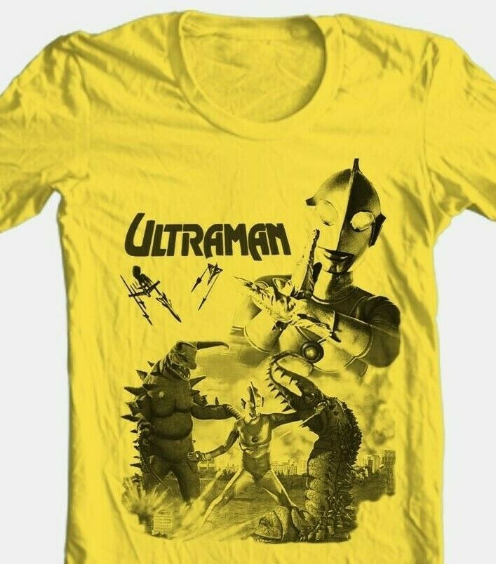 Ultraman T-shirt 80's Saturday morning cartoon anime superhero gold cotton tee