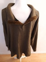 Nautica 1/4 Button Sweater Size XXL 2XL Green 100% Cotton Made In India ... - $19.75