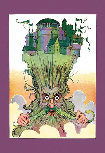 Primary image for Oz on Ruggedo's Head by John R. Neill - Art Print