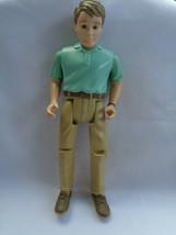 Vintage 1998 Fisher Price Loving Family Dollhouse Man Dad Green Shirt Tan Pants - $9.41