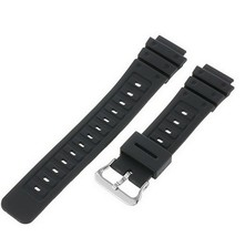 Timex Watch Bands Mens Q7B721 Resin Sport 18mm Black Replacement Watchband - $8.90