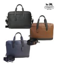 NWT COACH Mens Hamilton Day BriefCase Messenger Crossbody Leather Busine... - $247.50+