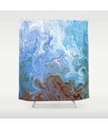 Shower curtains art shower curtain Design 52 bl... - $69.99