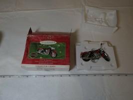 Harley Davidson motorcycle 1957 XL Sportster 2001 Hallmark Keepsake Ornament - $35.74