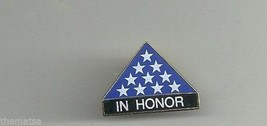 "IN HONOR FOLDED FLAG MILITARY 1""LAPEL HAT  PIN - $13.53"