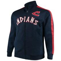 Cleveland Indians Mens Streak Fleece Cooperstown Full Zip Jacket Size 3XLT New - $79.19